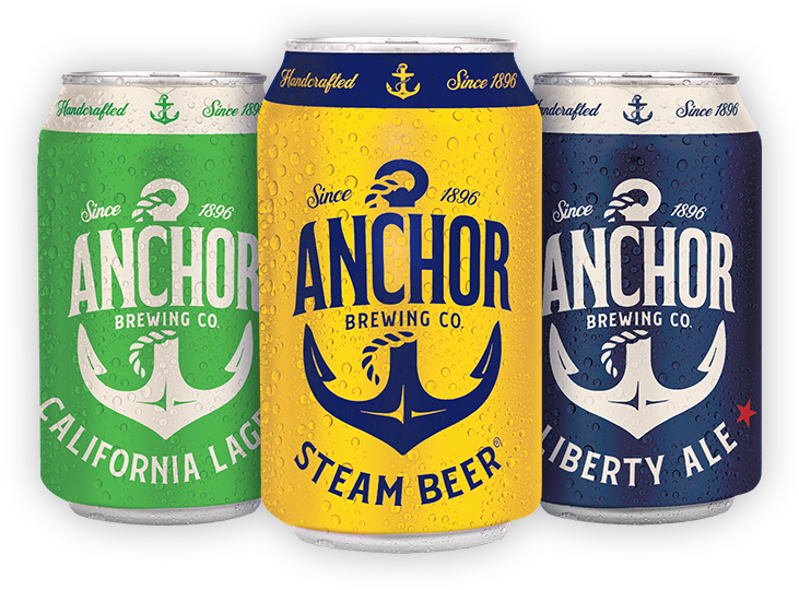 Cans of Anchor beer